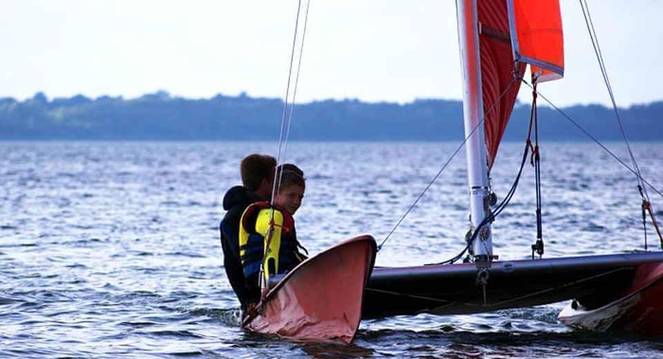 Segeln auf der Ostsee im Sportkatamaran mit Manfred Sommer in Wismar