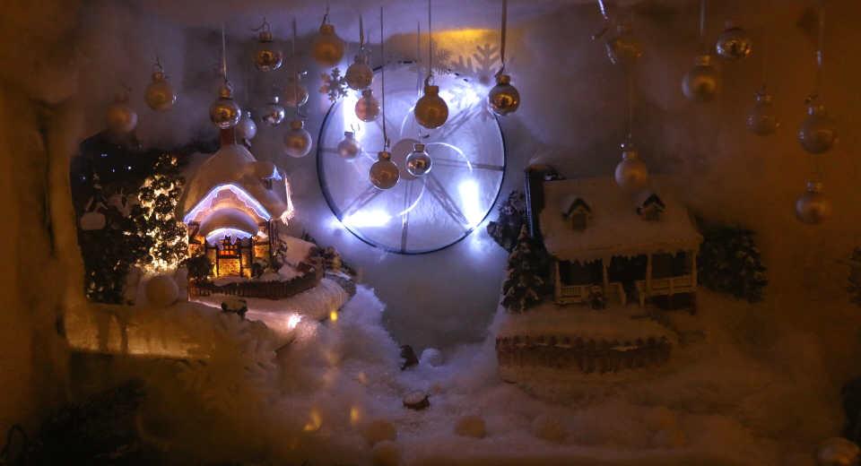 Miniaturlandschaft im Escape Room Skihütte