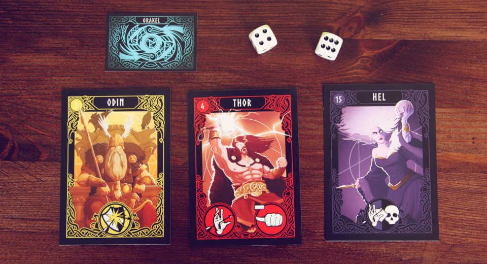 Drei Götterkarten bei Götterdämmerung