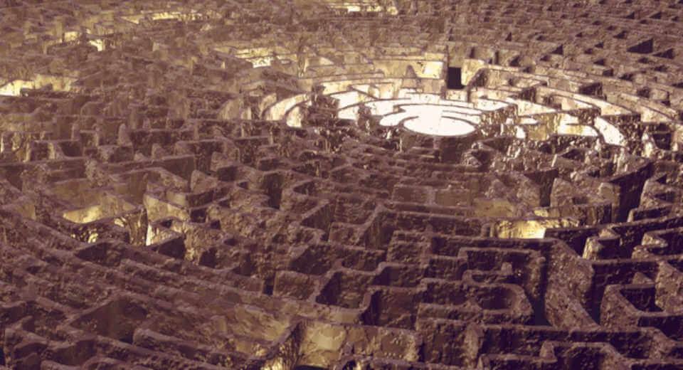 Geburtstagsrätsel für Erwachsene – Licht aus dem Zentrum des Labyrinths