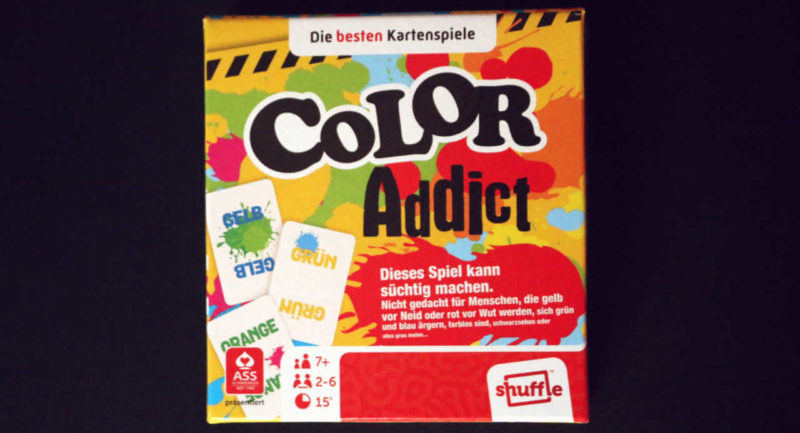 Das Kartenspiel Color Addict in der Box